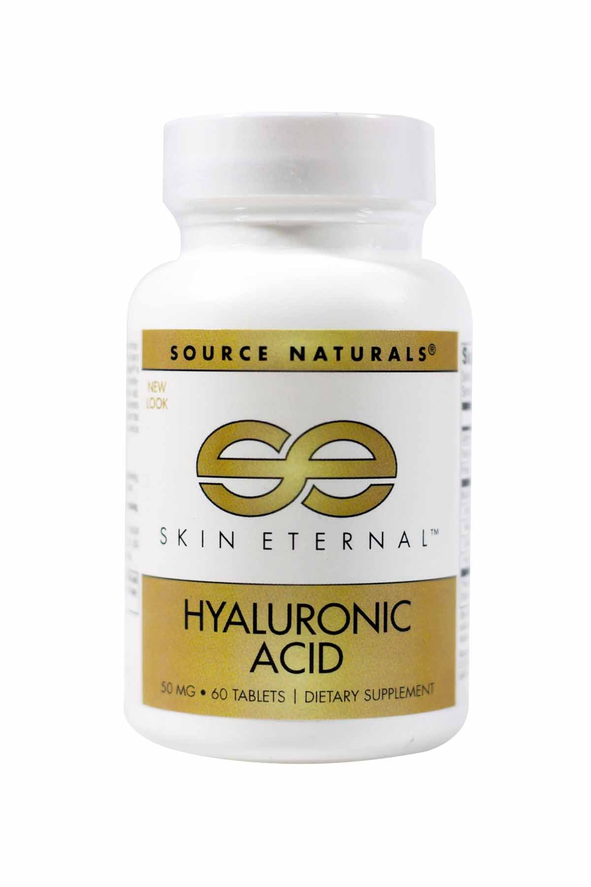 SOURCE NATURALS Skin Eternal Hyaluronic Acid Tablet, 60 Count