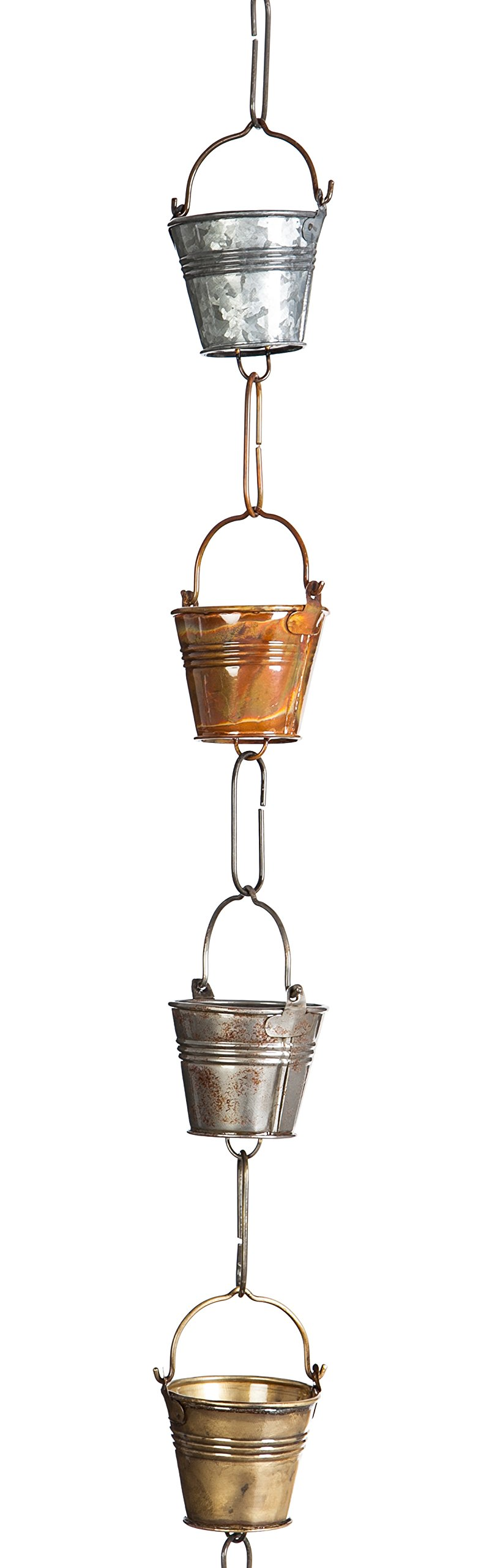 New Creative Galvanized Iron Buckets Rain Chain