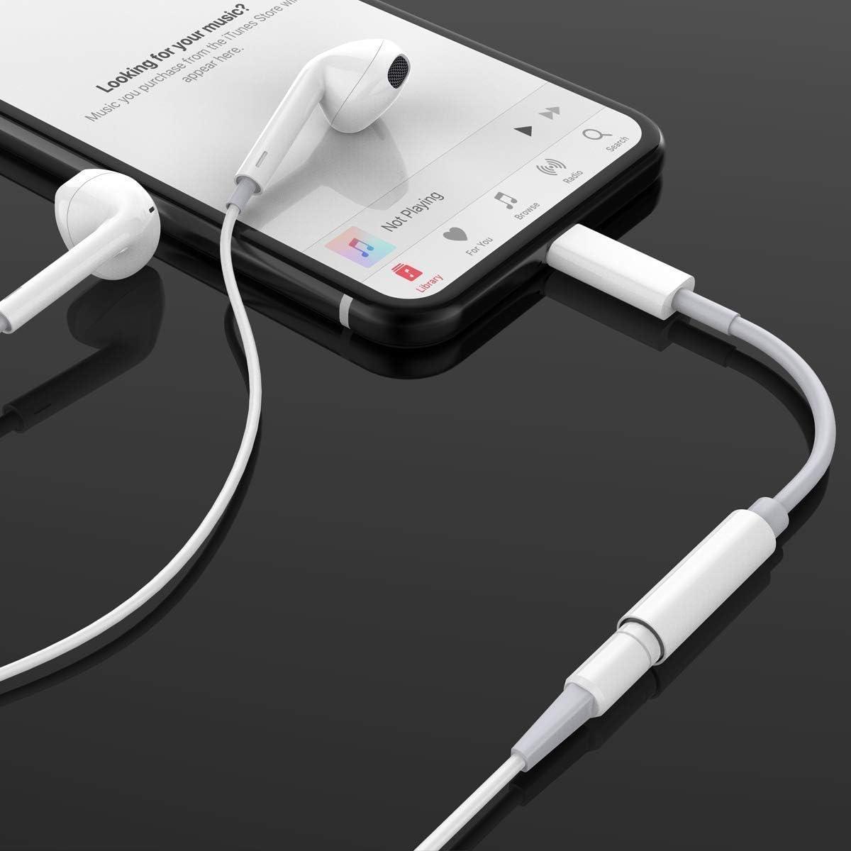 8//8 Plus X//XR 11Pro 7//7 Plus Convertisseur de St/ér/éo AUX Accessoires pour Tous iOS Adaptateur pour iPhone 11 Jack 3,5mm Adaptateur C/âble Audio Compatible avec iPhone 11