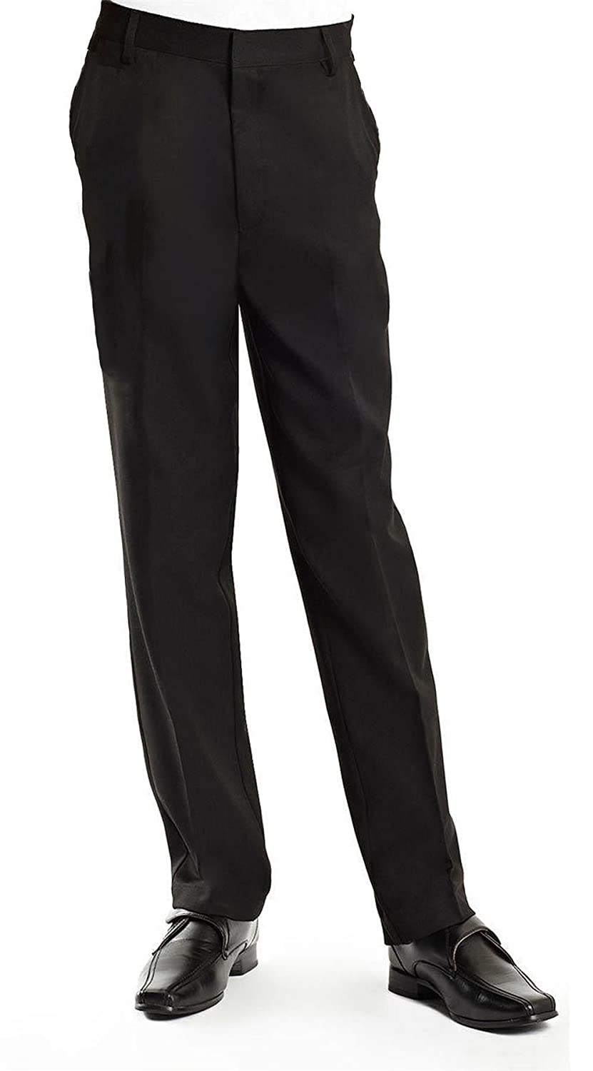 "scb online Boys Waist Size Black Slim FIT School Trousers Sizes 25"" to 34"" Waist"
