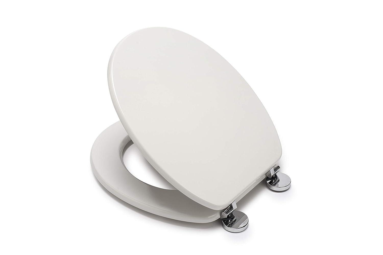 Blanco /Asiento para Inodoro con Tapa Croydex Flexi-Fix Kielder Siempre Nunca Se Adapta Slips/ 45/x 37,5/x 6/cm Madera