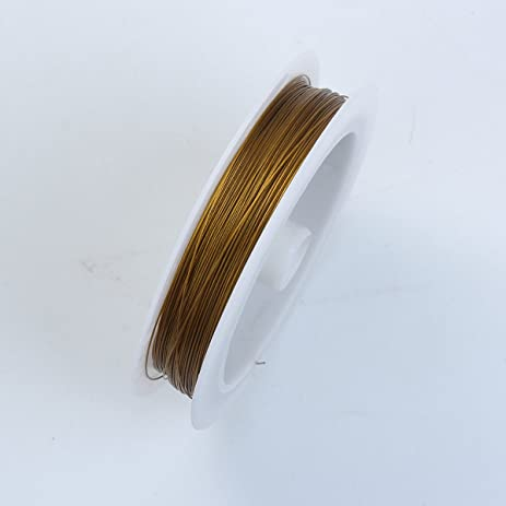 Amazon gold color wire 26 gauge thickness 038mm wgd 101 26g gold color wire 26 gaugethickness 038mm wgd 101 26g greentooth Image collections