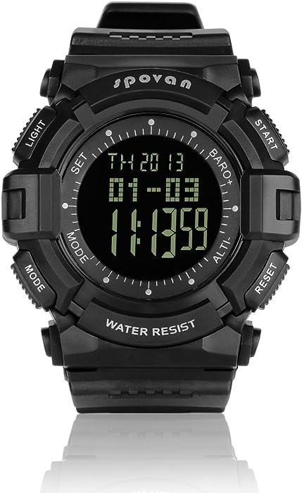 Spovan blade-iv multifuncional Militar/escalada/esquí deportes reloj Digital w/altímetro LCD termómetro de temperatura Monitor 30 m resistente al agua 28 ...