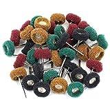 "M-Aimee 40Pcs 1"" 25mm Abrasive Buffs Polishing Buffing Wheel for Dremel Rotary Tool Grinding Accessories"