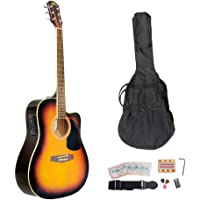 Pyle-Pro Pgakt40sb 41-Inch Acoustic-Electric Guitar Package with Gig Bag, Strap, Picks, Tuner and Strings (Sunburst Color)