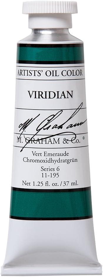 M. Graham Artist Oil Paint Viridian 1.25oz/37ml Tube