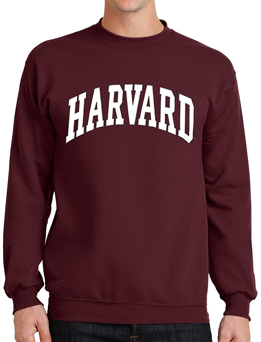 Harvard University Sweatshirt - Officially Licensed Arched Block Crewneck
