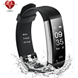 Damusy Fitness Tracker, Smart Watch Activity Tracker Smart Band with Heart Rate Monitor, Waterproof Bracelet Pedometer wristband with Calorie counter, Call/SMS Remind for Android & iOS