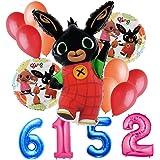 ana-gram Bouquet n 4 Bing & Friends Composizione Palloncini Foil Compleanno