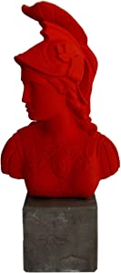 Talos Artifacts Goddess Athena Red Bust - Symbol of Wisdom Strength Strategy - Athens