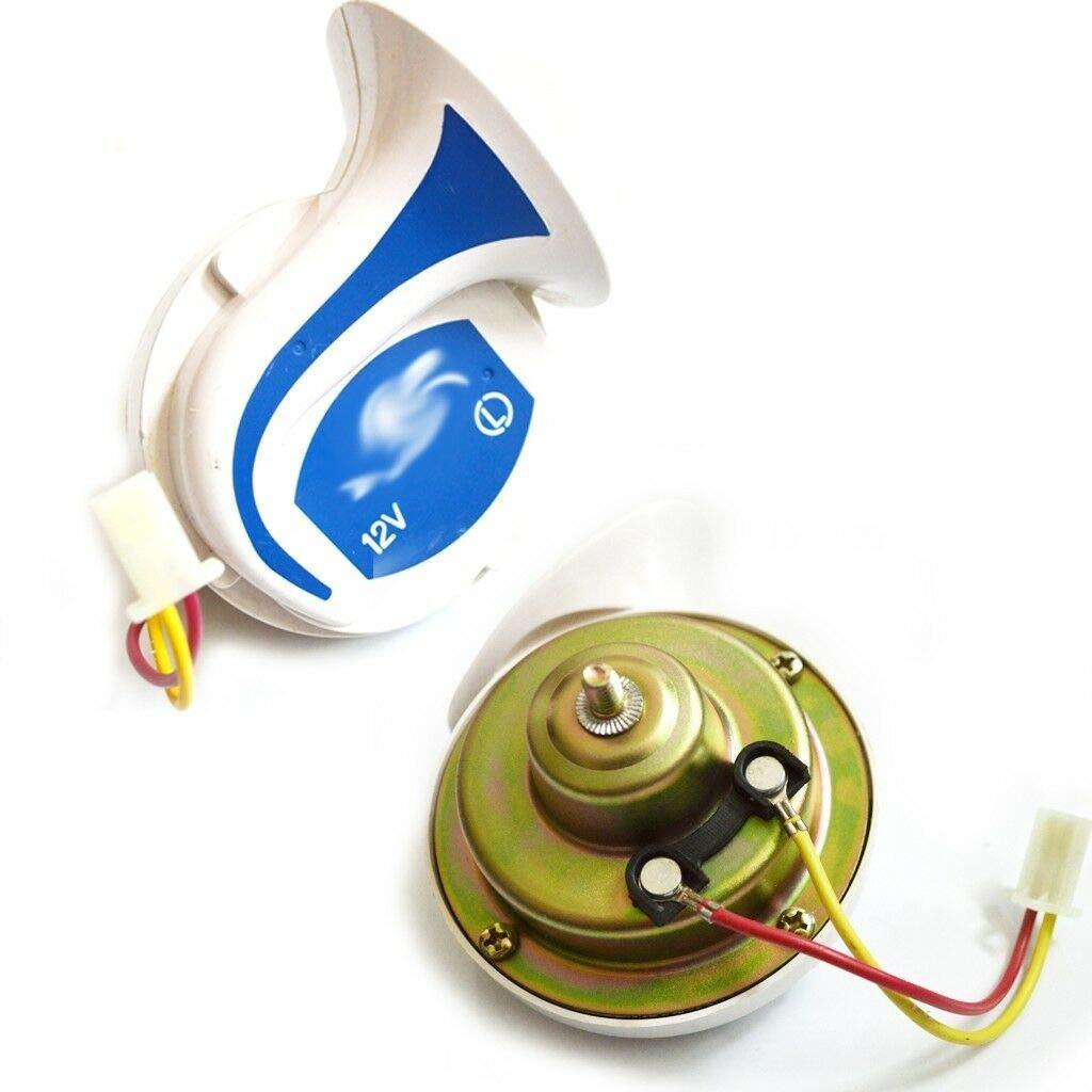 Ocamo Loud Horn Auto Speaker Alarm 2V 150db Tone Vehicle Boat Car Motor Motorcycle Van Truck Siren