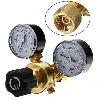 HUKOER Regulador de Presión de Argón CO2, Soldadura Mig Tig, 0-315 Bar