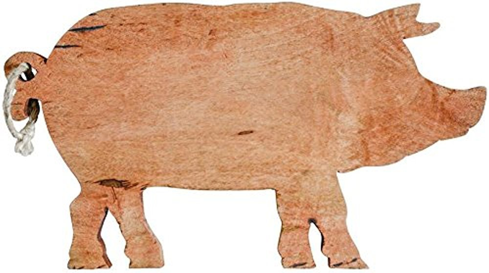 木製Pig Shapedカッティングボード B07BMC53DJ