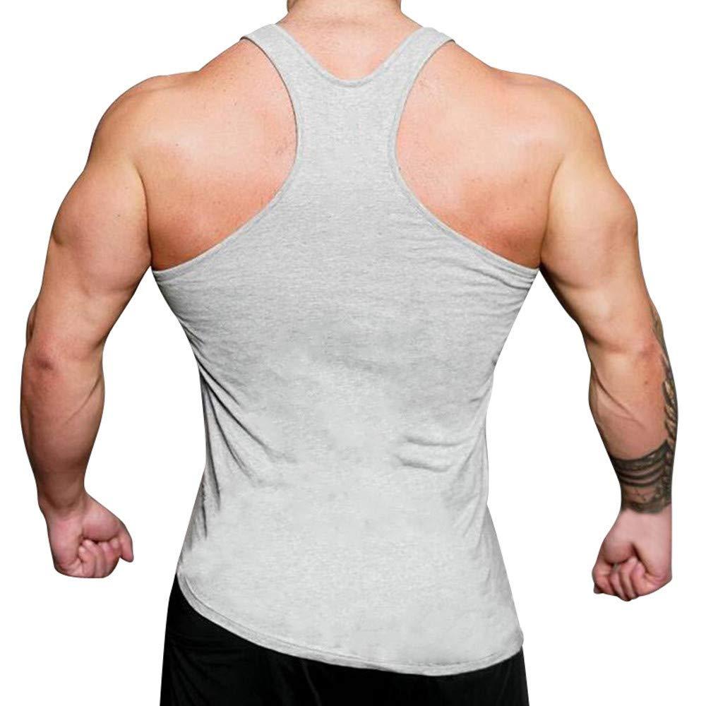 Bsjmlxg Mens Muscle Gym Workout Singlet Tank Tops Bodybuilding Fitness T-Shirts