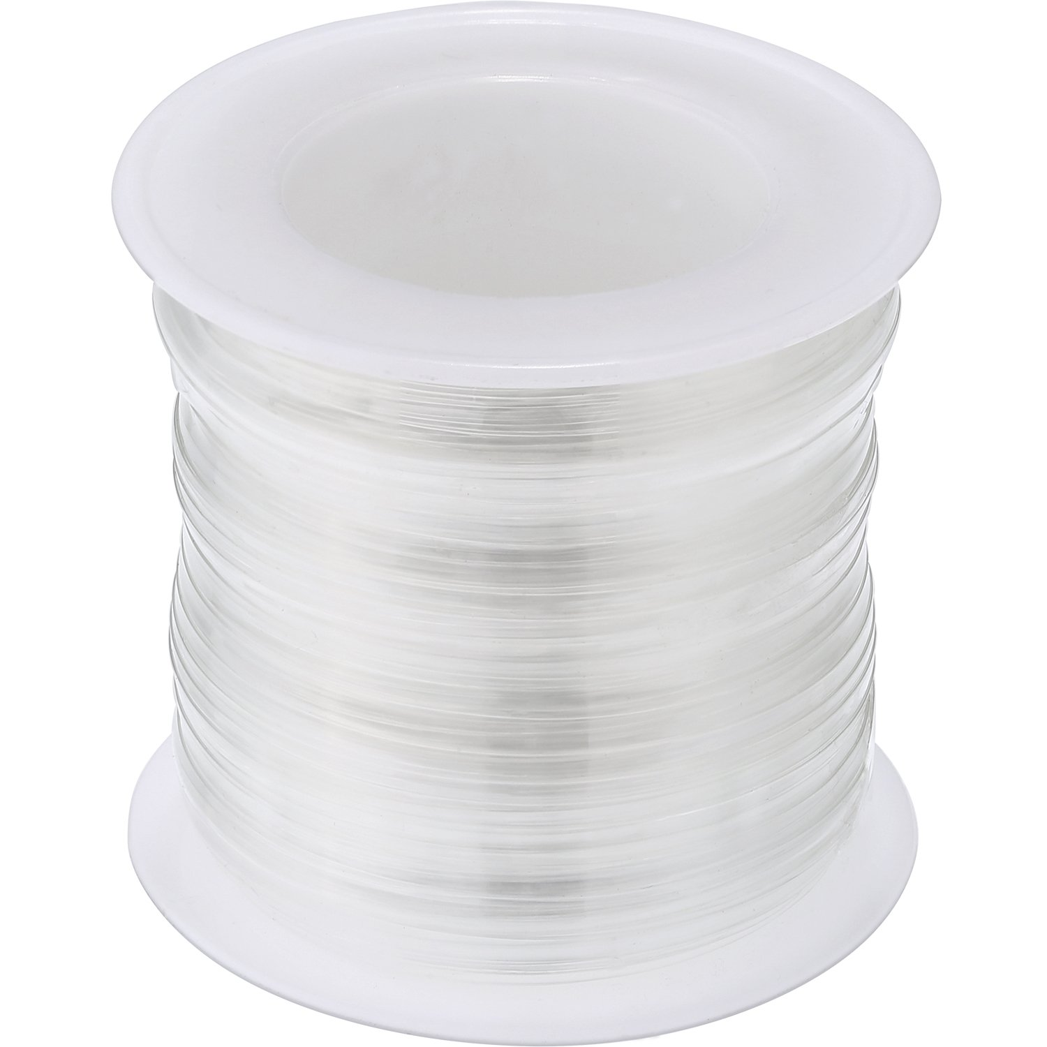 BBTO Clear Elastic Strap Lightweight Elastic Clear Bra Strap for Cloth Sewing Project (20 m Length, 0.30 cm Thickness) 4337000575