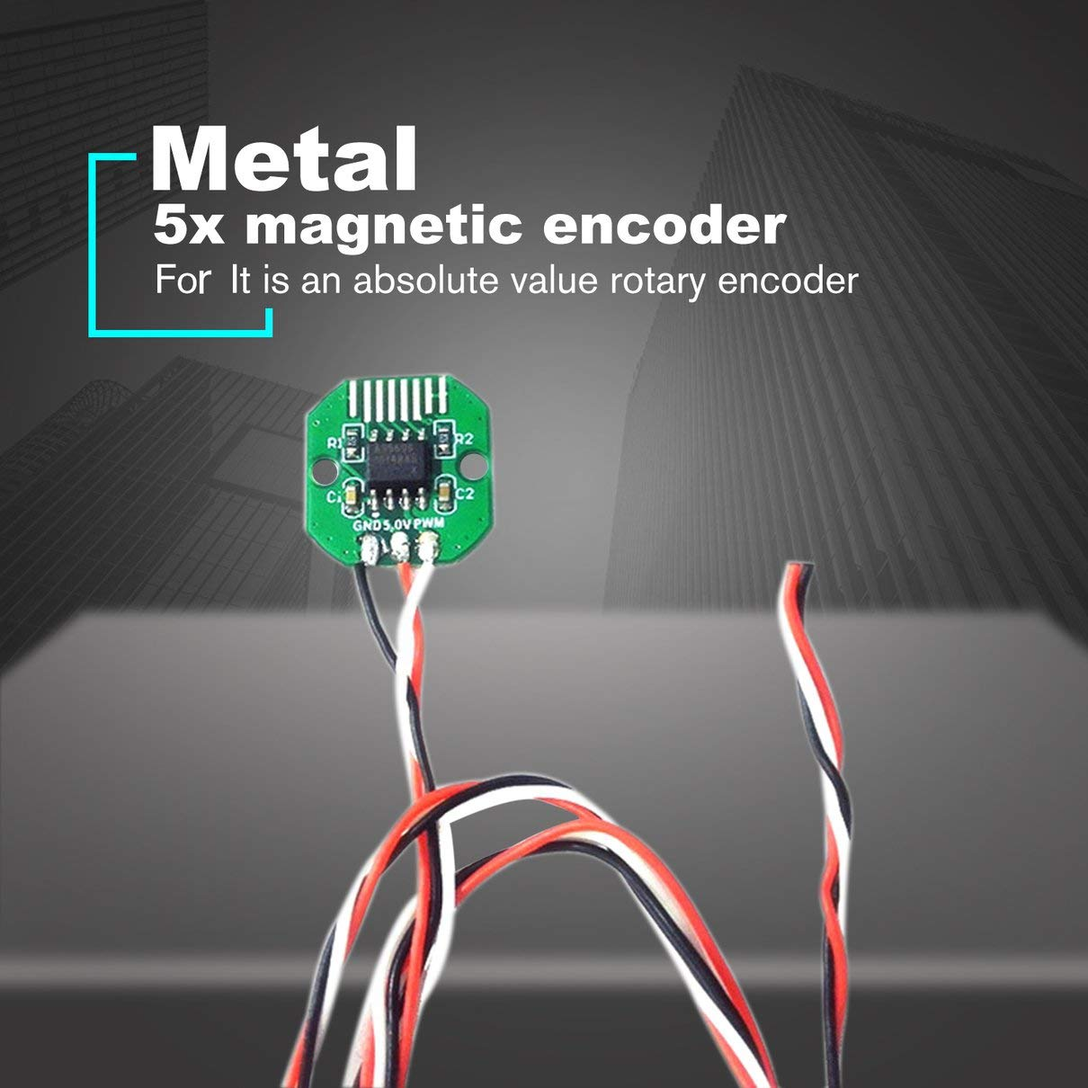 I2C Puerto 12Bit para motor de card/án sin escobillas Rotativo incremental con anillo magn/ético Togames-ES verde AS5600 Codificador rotativo de valor absoluto PWM