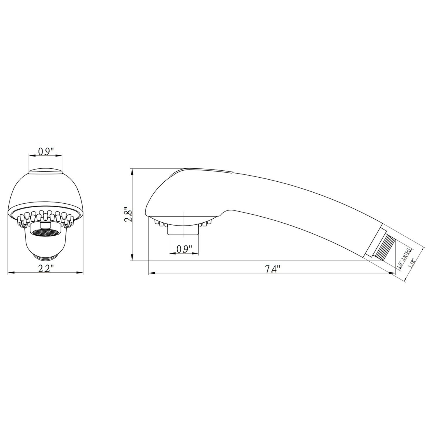 Dura Faucet Df Rk850 Wt Designer Pull Out Sprayer Jeep Kes Diagram Replacement White Automotive