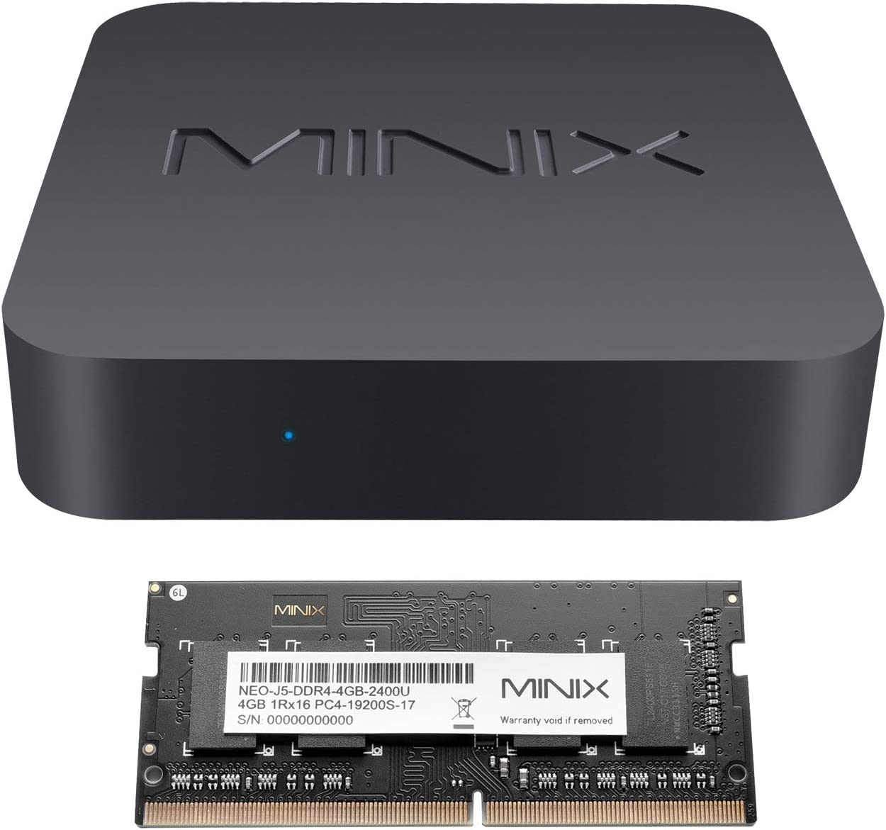 MINIX NEO J50C-4, 64GB Intel Pentium Silver Mini PC with Windows 10 Pro (64-bit) [8GB/Dual-Band Wi-Fi/Gigabit Ethernet/4K @ 60Hz/Triple Display/USB-C/Auto Power On/Vesa Mount]