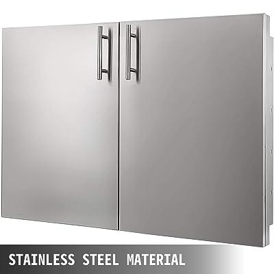 Buy Mophorn Bbq Access Double Door 36w X 23h Inch Bbq Door Stainless Steel With Storage Outdoor Kitchen Doors For Commercial Bbq Island Online In Germany B07kfg54pp