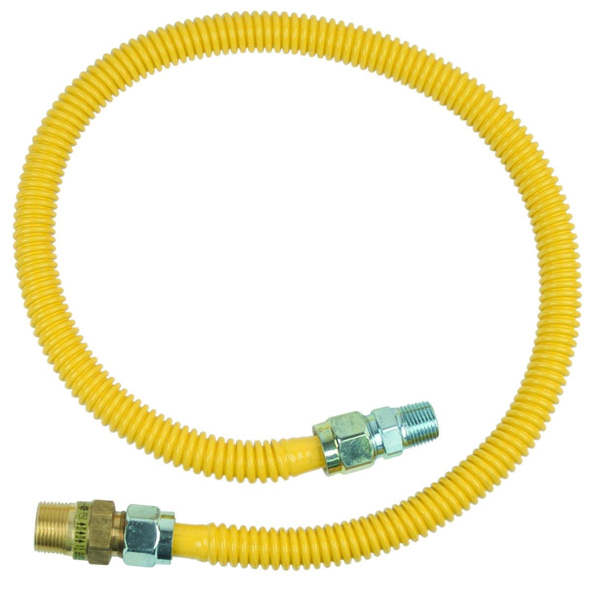 Brasscraft Cssc14R36 P Safety Plus Gas Appliance 5/8'' Od Connector With 3/4'' Mip Efv x 1/2'' Mip x 36''