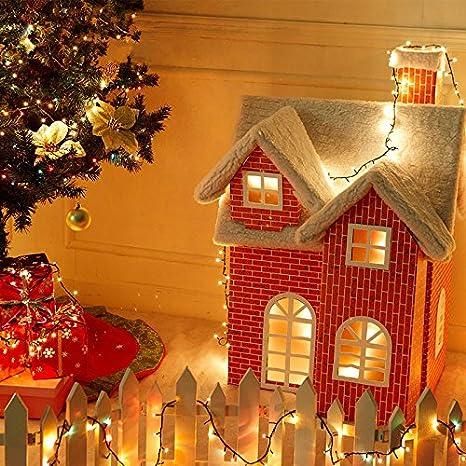 Immagini Case Natalizie.Case Di Neve Di Carta Decorazioni Casa Natale Decorazioni Di