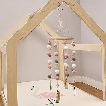Cozyhoma Baby Mobile Filzball Mobile Kinderzimmer Decke Mobile Windspiel Bett Glocke Rassel Spielzeug H/ängende Deko Fotografie Requisiten