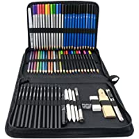 ColorBlocks 71-Piece Art Supplies -Sketch Set,Painting,Coloring and Drawing Pencils in Zipper Carry Case, Graphite…