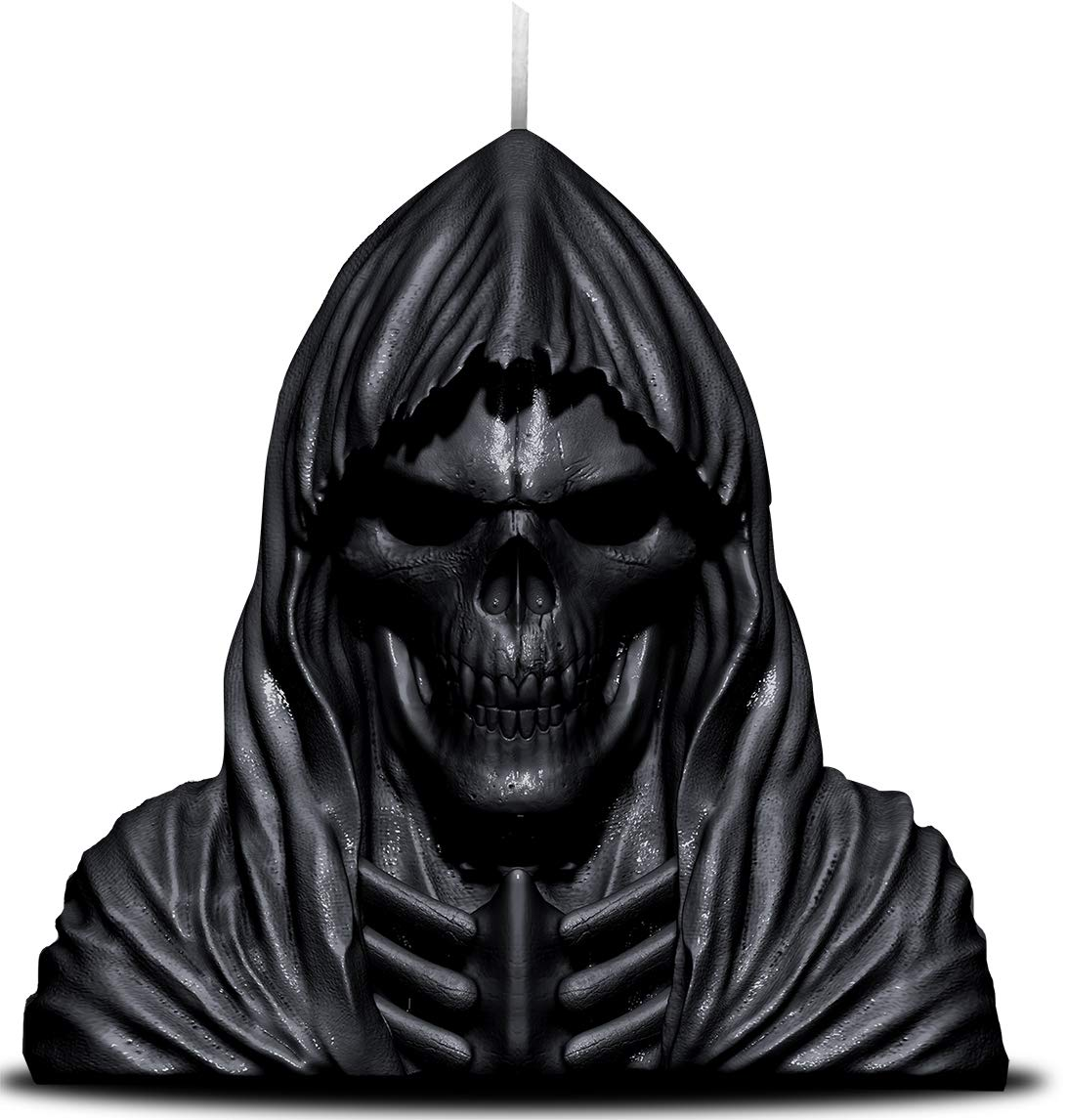 Spiral - Wax Reaper With Skull - Candle with Metal Sculpture Inside