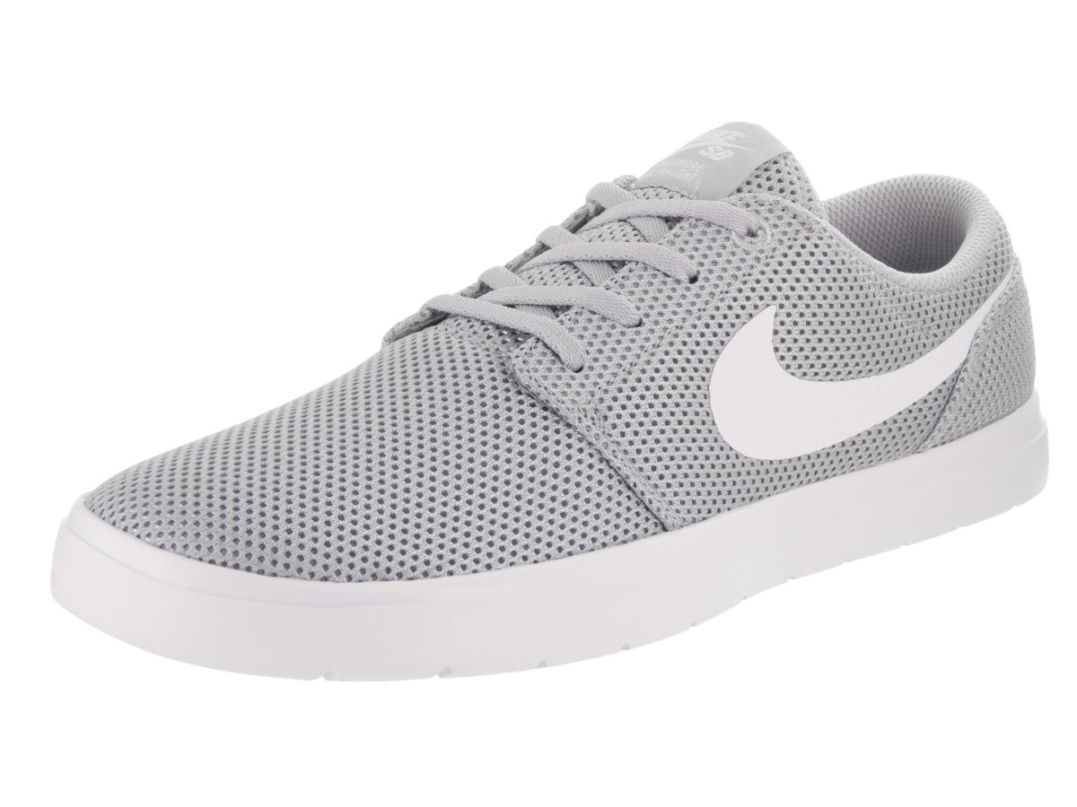 NIKE Men's SB Portmore II Ultralight Skate Shoe B0059P2CRU 13 D(M) US|Wolf Grey White