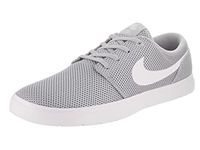 ccf9779b212 Nike Men's Sb Portmore Ii Ultralight Skateboarding Shoes, (Wolf Grey/White  011)