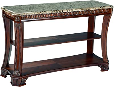 Ashley Furniture Signature Design - Ledelle Sofa Table - Vintage Style - Rectangular - Brown