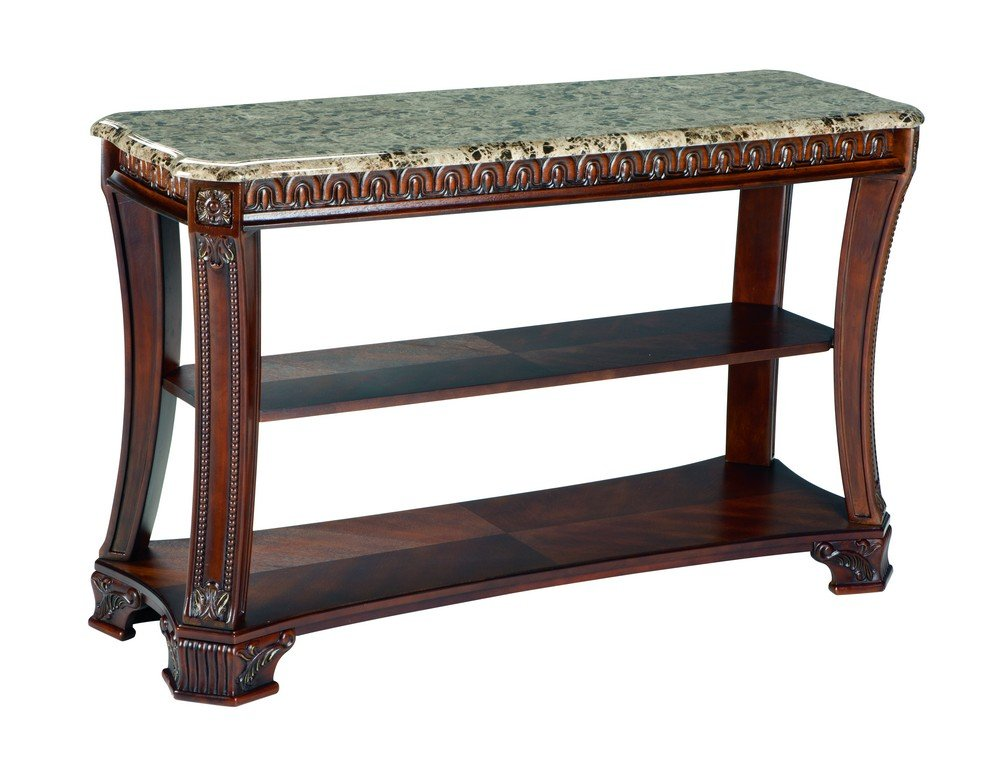 Amazon.com: Ashley Furniture Signature Design   Ledelle Sofa Table    Vintage Style   Rectangular   Brown: Kitchen U0026 Dining