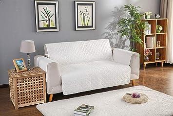 SDFJLS 1 PC Blanco Color Sofá Cubrir - Lavable Desmontable ...