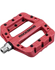 "RockBros Lightweight Mountain Bike Pedals Nylon Fiber Bicycle Platform Pedals for BMX MTB 9/16"""