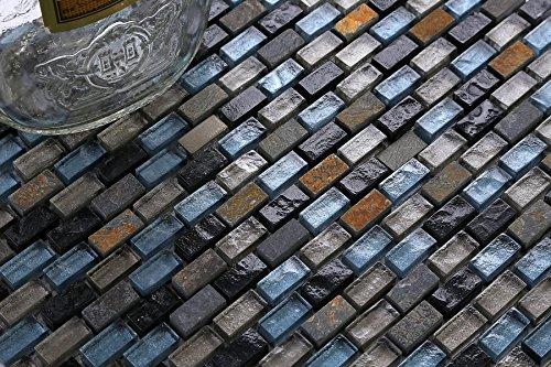 Cm cm modello mosaico piastrelle motivo in blu nero e