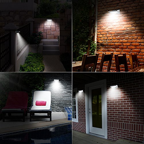 Solar Lights Outdoor, OPERNEE Stainless Steel Motion