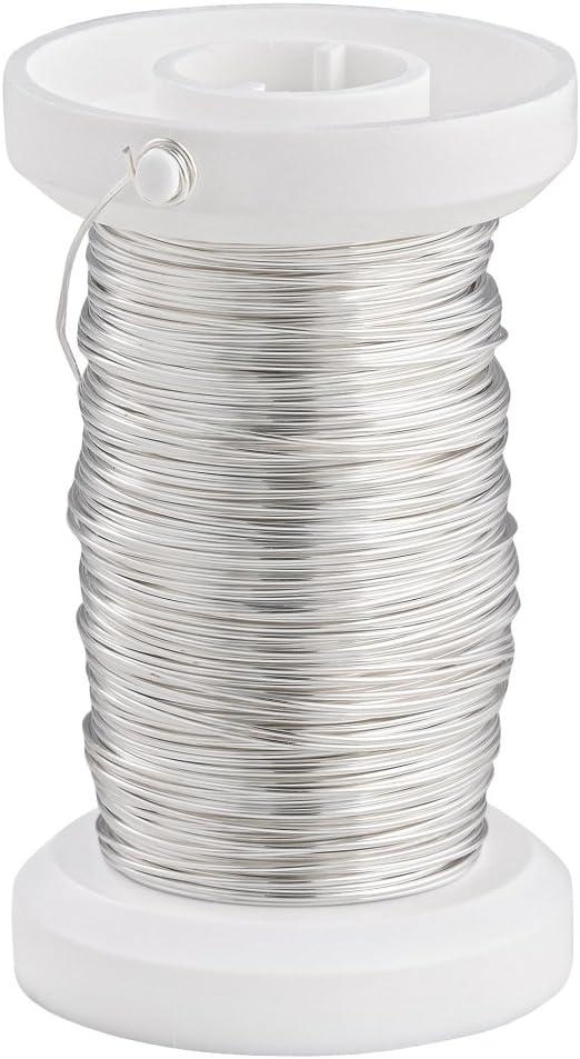Basteldraht Spule 40 m Silberdraht mit Kupferkern 0,40 mm ø