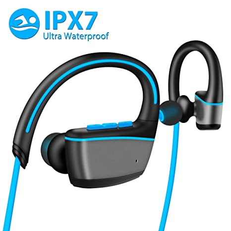 TTMOW Auriculares Bluetooth 4.1 para Correr, Estructura Impermeable IPX7 Auriculare Deportivo para Nadar Running Compatible