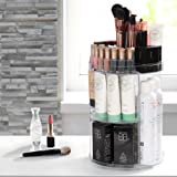 Acrylic Makeup Organizer, 360 Degree Rotating Large Capacity DIY Countertop Cosmetic Storage, Fits for Toner, Creams, Makeup Brushes, Lipsticks and More