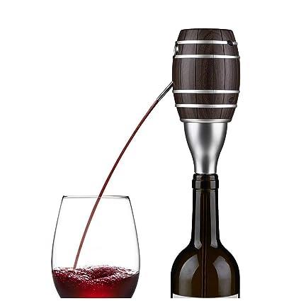 NHLXJQ Decantador eléctrico Rojo Winer Decantador y aireador, dispensador portátil y automático Bomba Botella Respiradero