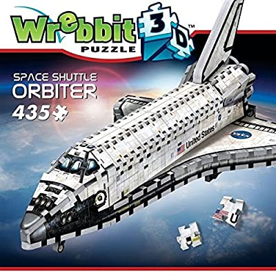 WREBBIT 3D Space Shuttle Orbiter 3D jigsaw puzzle (435-piece): Toys & Games