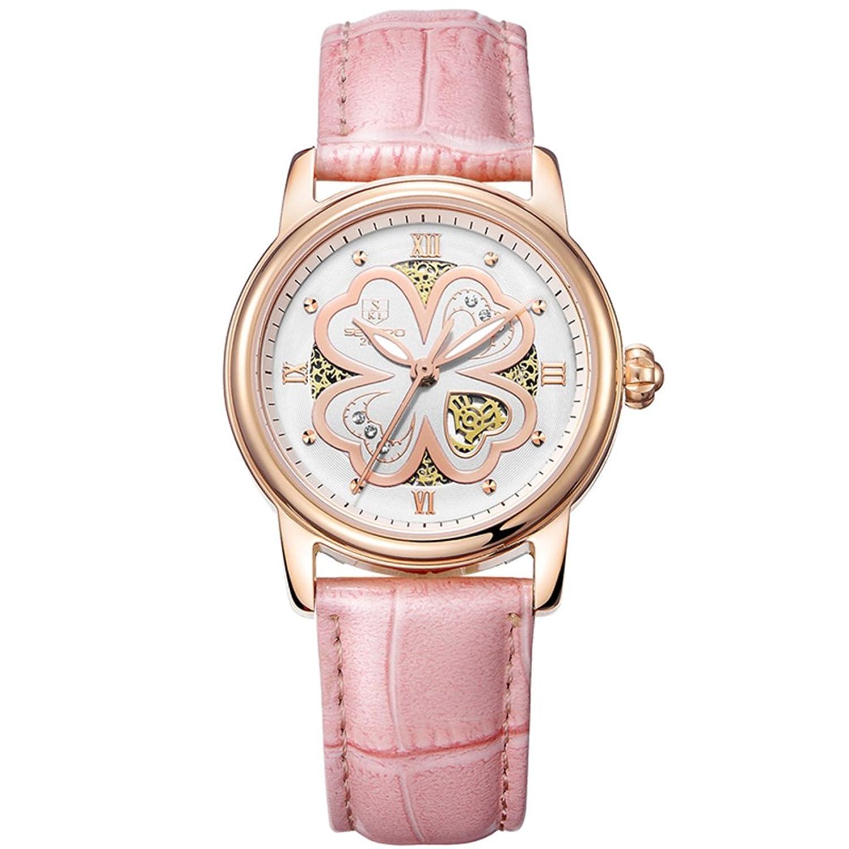 Automatische mechanische Uhr Lady-Hohlen Water resistant Zeitmesser- einfach und lÄssig Uhren-D