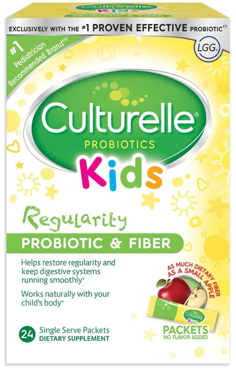 Culturelle Kids Regularity Probiotic & Fiber Dietary Supplement | Helps Restore Regularity & Maintain Smooth Digestion | Works Naturally with Child's Body | 24 Single Packets by Culturelle
