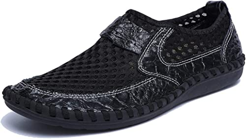 Mens Breathable Mesh Loafers Summer Casual Lightweight Slip-on Shoes Comfortable Outdoor Driving Travel Stylish Shoes