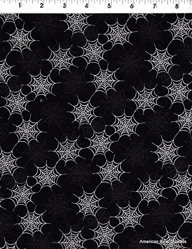 Wilmington Prints Halloween Spider Web Fabric]()