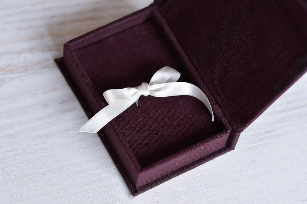 EWART WOODS Linen Fabric USB Box Without USB//with USB USB Flash Drive Box Personalize Flash Drive Photo Box Gift Wedding Box Proof Box Photography Photo Box Large, Blue
