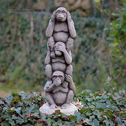 Décorations de Jardin par Onefold An40 Wise Monkey Totem ...