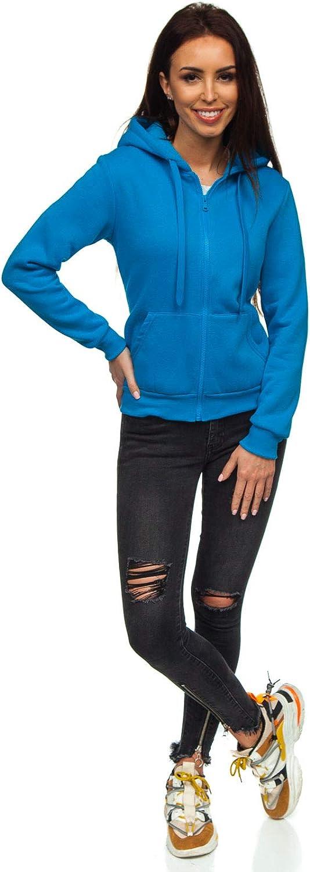 A1A BOLF Damen Kapuzenpullover Sweatshirt mit Kapuze Sport Pullover Sweatjacke Hoodie Langarmshirt Farbvarianten Sweater Rei/ßverschluss Fitness Training
