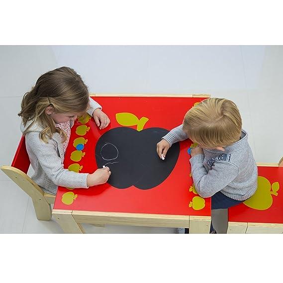 Amazon.com: Hessie Muebles de madera Kids Juego de mesa con ...