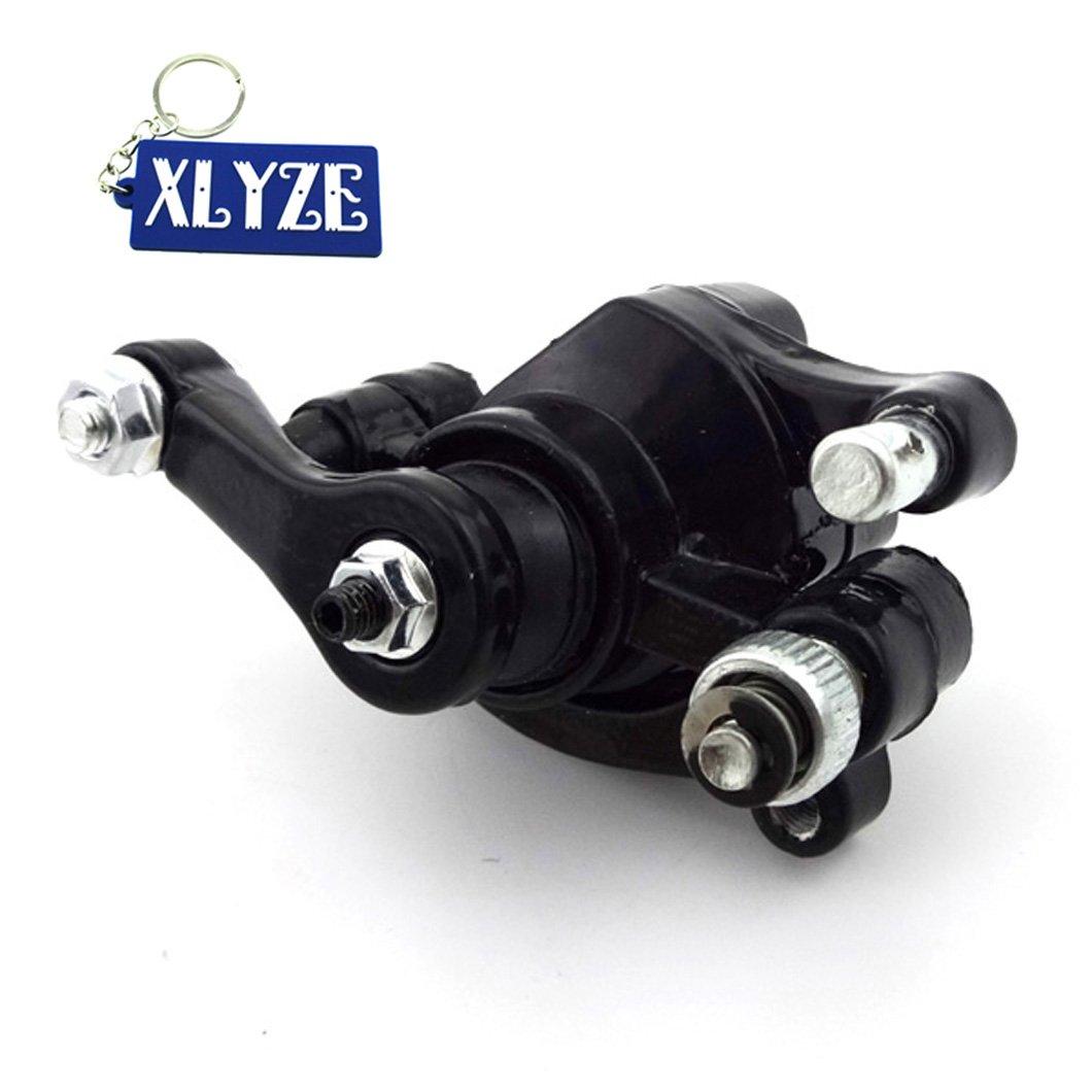 XLYZE Disco de freno trasero derecho Rotor Caliper negro para 97cc 2.8HP DB30 Baja Doodle Bug Mini Dirt Bike